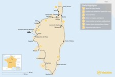 Map thumbnail of Vineyard Hopping in Corsica: 7 Days