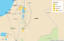 Map thumbnail of Historical Jordan and Israel Tour - Petra, Jerusalem, Bethlehem - 6 Days