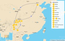 Map thumbnail of Discover China: Yunnan & Western Sichuan - 14 Days