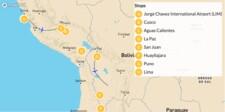 Map thumbnail of Perú & Bolivia Highlights: Machu Picchu, Titicaca Lake & Uyuni Salt Flats - 10 Days