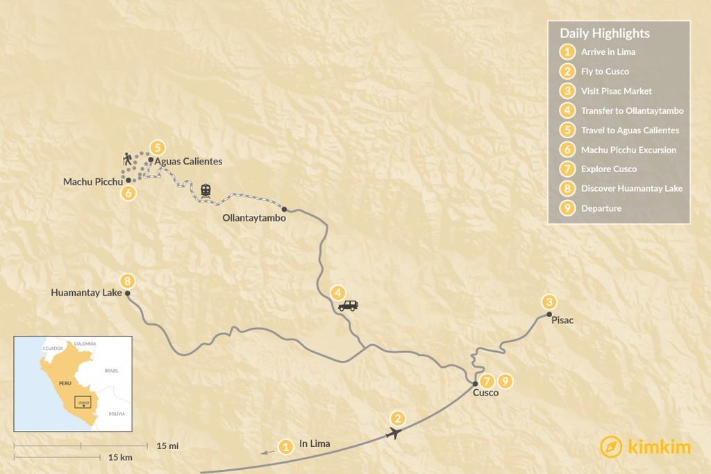 Map of Discover the Inca Empire - 9 Days