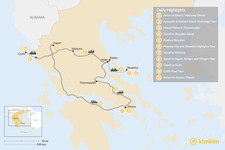 Map thumbnail of Central Greece, Skopelos & Corfu Exploration - 11 Days