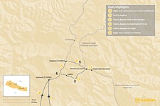 Map thumbnail of Lower Mustang Trek - 9 Days