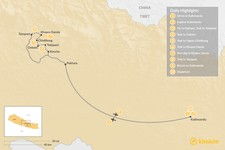 Map thumbnail of Khopra Danda Trek with Kaire Lake  - 10 Days
