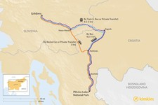 Map thumbnail of How to Get from Ljubljana to Plitvice Lakes National Park