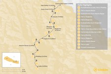 Map thumbnail of Everest Base Camp Trek - 16 Days