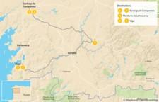 Map thumbnail of Ultimate Tour of Galicia: Santiago de Compostela, Lugo, & Vigo - 6 Days