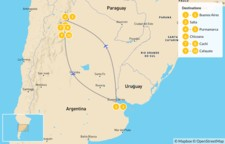 Map thumbnail of Buenos Aires & Salta Adventure - 11 Days