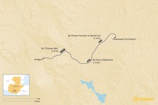 Map thumbnail of How to Get from Guatemala City Airport (GUA) to Antigua