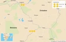 Map thumbnail of Victoria Falls & Botswana Safari - 6 Days