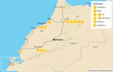 Map thumbnail of Discover Morocco: Imperial Cities to the Atlas Mountains and the Coast - 13 Days