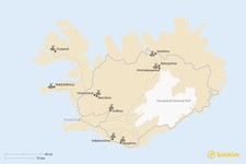 Map thumbnail of Most Accessible Waterfalls in Iceland