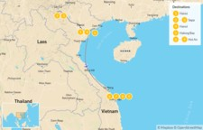 Map thumbnail of Honeymoon in Northern Vietnam: From Hanoi to Hoi An - 10 Days
