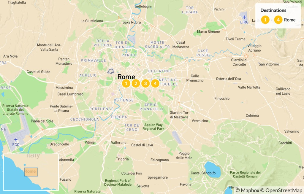 Map of Explore Rome - 5 Days
