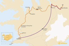 Map thumbnail of How to Get from Reykjavik to Lake Myvatn