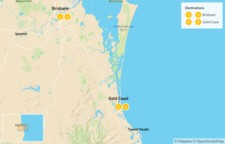 Map thumbnail of South East Queensland: Brisbane & Gold Coast - 5 Days