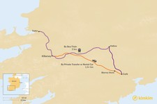 Map thumbnail of How to Get from County Cork to County Kerry