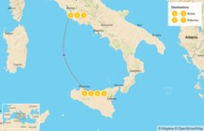 Map thumbnail of Rome & Sicily Highlights - 8 Days