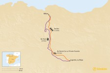 Map thumbnail of How to Get from Bilbao to La Rioja