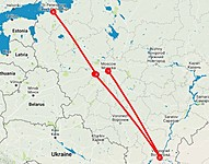 Map thumbnail of World War II History Tour of Russia: Moscow, Volgograd, St. Petersburg, & More - 10 Days