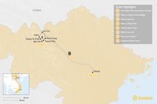 Map thumbnail of Trekking in Rural Vietnam - 8 Days
