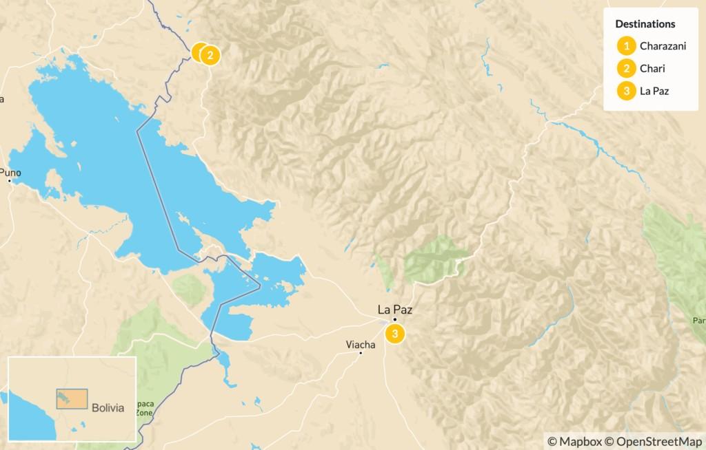 Map of Apolobamba National Park Trek- 3 Days
