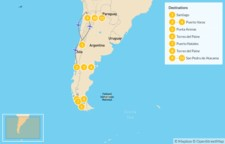 Map thumbnail of Chile: Lake District, Torres del Paine, & Atacama Desert - 12 Days