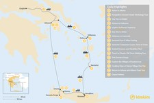 Map thumbnail of Discover Athens, Mykonos, Santorini, and Crete - 16 Days
