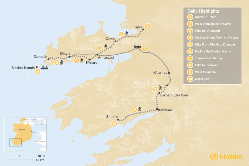 Map of Discover the Dingle Peninsula - 10 Days