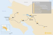 Map thumbnail of Classic Costa Rica: 7-Day Self-Drive Tour