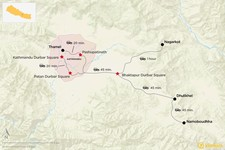 Map thumbnail of Explore the Kathmandu Valley - 6 Days