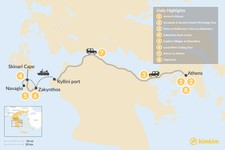 Map thumbnail of Historic Athens and Zakynthos - 8 Days