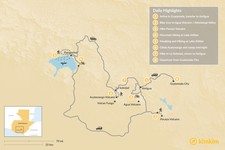 Map thumbnail of Multi-Sport Adventure in Guatemala - 8 Days