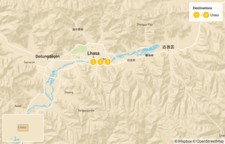 Map thumbnail of Highlights of Lhasa - 4 Days