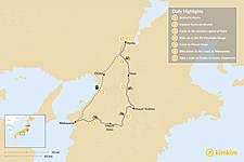 Map thumbnail of Japanese Cycling Adventure - 7 Days