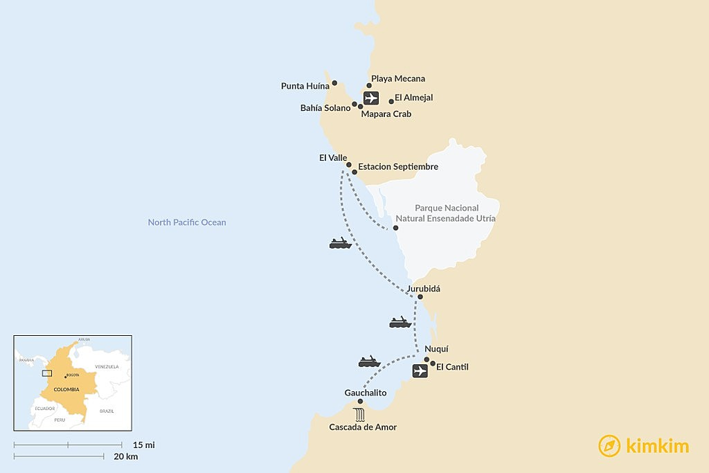Map of Tips for Visiting El Chocó on Colombia's Remote Pacific Coast