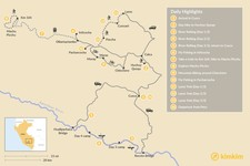 Map thumbnail of Adventure Awaits: Rafting, Biking & Trekking - 15 Days