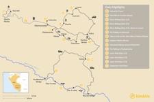Map thumbnail of Adventure Awaits: Rafting, Biking & Trekking - 15 Days