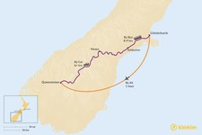 Map thumbnail of How to Get from Christchurch to Queenstown