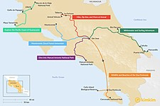 Map thumbnail of 5 Days in Costa Rica - 6 Unique Itineraries