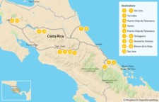 Map thumbnail of Costa Rica Culture on the Coast & Arenal - 14 Days