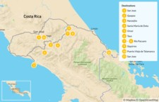 Map thumbnail of Mountain Biking from Manuel Antonio to the Caribbean Coast - 12 Days