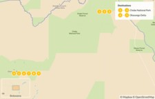 Map thumbnail of Botswana Family Safari: Chobe & Okavango Delta - 10 Days
