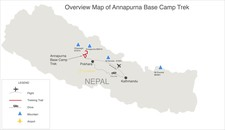 Map thumbnail of Annapurna Base Camp Trek - 15 Days