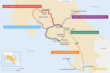 Map thumbnail of 6 Days in Costa Rica - 5 Unique Itinerary Ideas