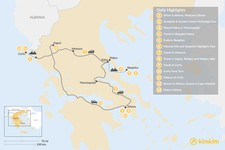 Map thumbnail of Central Greece, Skopelos & Corfu Exploration - 13 Days