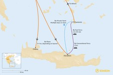Map thumbnail of How to Get from Santorini to Crete