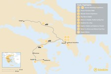 Map thumbnail of Family Holiday in Athens & Nafplio - 10 Days