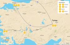 Map thumbnail of Wonders of Turkey: Istanbul, Cappadocia, Ephesus - 9 Days