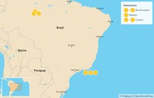 Map thumbnail of Explore Brazil: From Rio de Janeiro to the Amazon - 7 Days